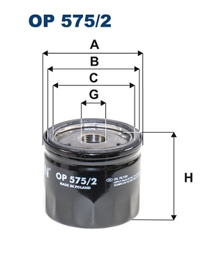 Ilustracja OP 575/2 FILTRON filtr oleju