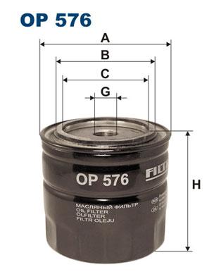 Ilustracja OP 576 FILTRON filtr oleju