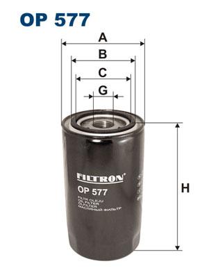 Ilustracja OP 577 FILTRON filtr oleju
