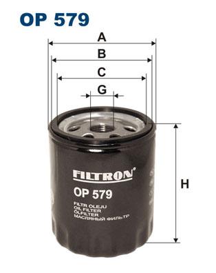 Ilustracja OP 579 FILTRON filtr oleju
