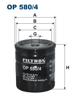 Ilustracja OP 580/4 FILTRON filtr oleju