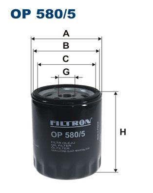Ilustracja OP 580/5 FILTRON filtr oleju