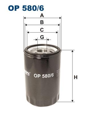 Ilustracja OP 580/6 FILTRON filtr oleju