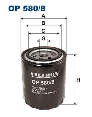 Ilustracja OP 580/8 FILTRON filtr oleju