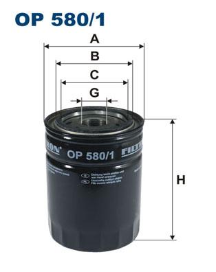 Ilustracja OP 580/1 FILTRON filtr oleju