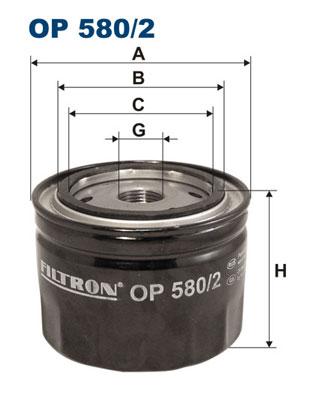 Ilustracja OP 580/2 FILTRON filtr oleju