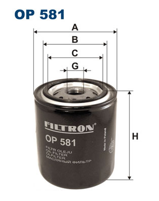 Ilustracja OP 581 FILTRON filtr oleju
