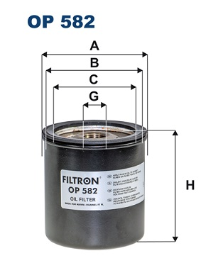 Ilustracja OP 582 FILTRON filtr oleju