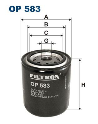 Ilustracja OP 583 FILTRON filtr oleju