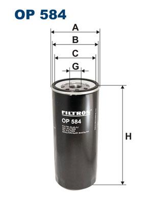 Ilustracja OP 584 FILTRON filtr oleju