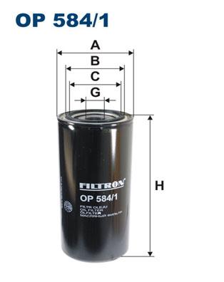 Ilustracja OP 584/1 FILTRON filtr oleju