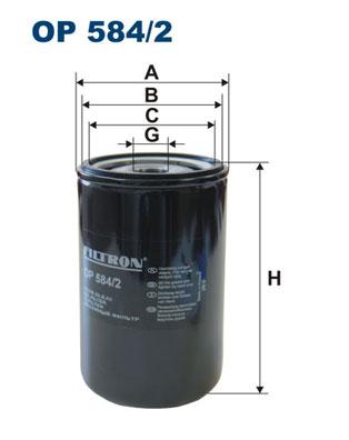 Ilustracja OP 584/2 FILTRON filtr oleju