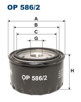 Ilustracja OP 586/2 FILTRON filtr oleju