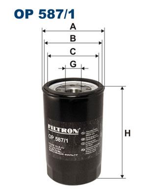 Ilustracja OP 587/1 FILTRON filtr oleju