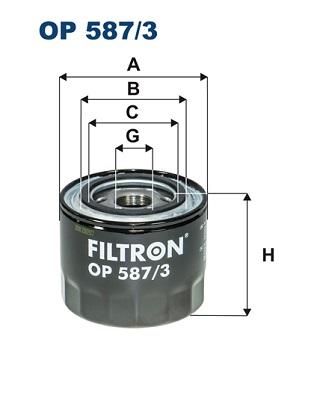 Ilustracja OP 587/3 FILTRON filtr oleju