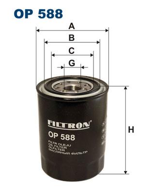 Ilustracja OP 588 FILTRON filtr oleju