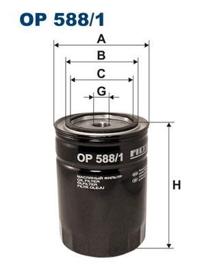 Ilustracja OP 588/1 FILTRON filtr oleju
