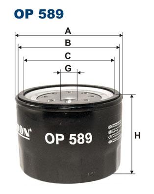 Ilustracja OP 589 FILTRON filtr oleju