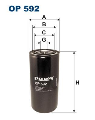 Ilustracja OP 592 FILTRON filtr oleju