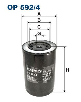 Ilustracja OP 592/4 FILTRON filtr oleju