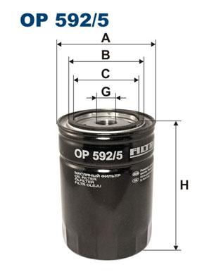 Ilustracja OP 592/5 FILTRON filtr oleju