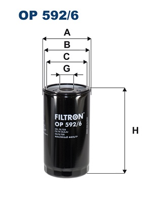 Ilustracja OP 592/6 FILTRON filtr oleju