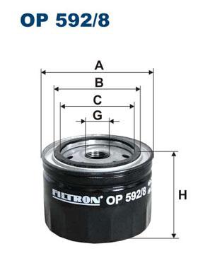 Ilustracja OP 592/8 FILTRON filtr oleju