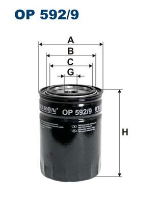 Ilustracja OP 592/9 FILTRON filtr oleju