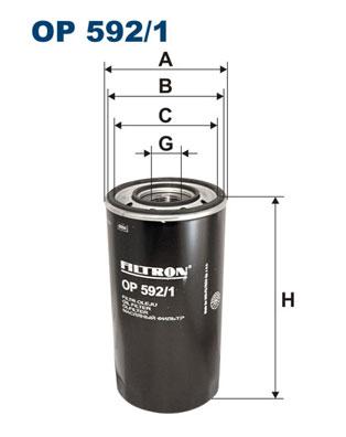 Ilustracja OP 592/1 FILTRON filtr oleju