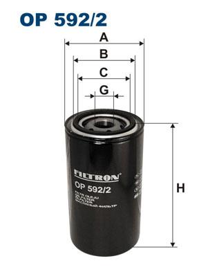 Ilustracja OP 592/2 FILTRON filtr oleju