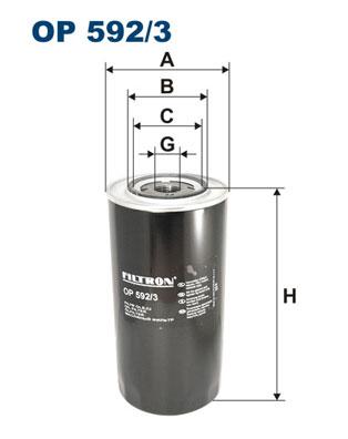 Ilustracja OP 592/3 FILTRON filtr oleju