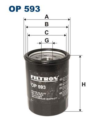 Ilustracja OP 593 FILTRON filtr oleju
