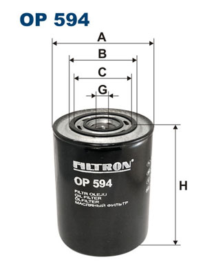Ilustracja OP 594 FILTRON filtr oleju