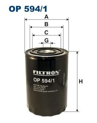 Ilustracja OP 594/1 FILTRON filtr oleju