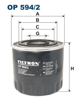 Ilustracja OP 594/2 FILTRON filtr oleju
