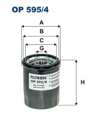 Ilustracja OP 595/4 FILTRON filtr oleju