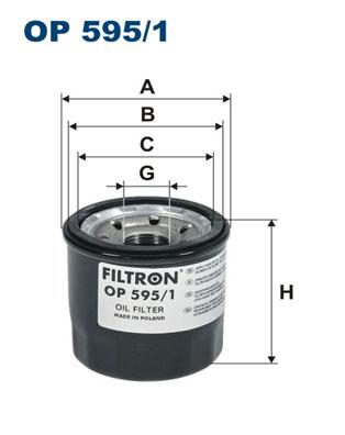 Ilustracja OP 595/1 FILTRON filtr oleju