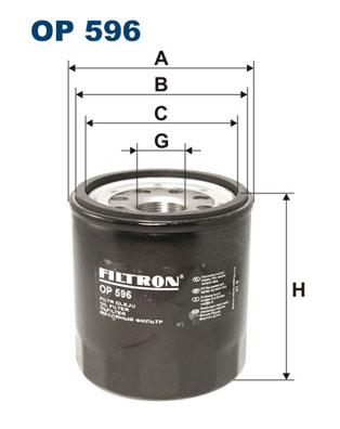 Ilustracja OP 596 FILTRON filtr oleju