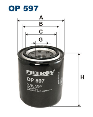 Ilustracja OP 597 FILTRON filtr oleju