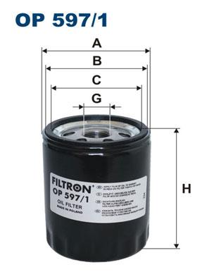 Ilustracja OP 597/1 FILTRON filtr oleju