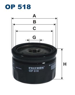 Ilustracja OP 518 FILTRON filtr oleju