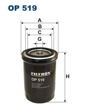 Ilustracja OP 519 FILTRON filtr oleju