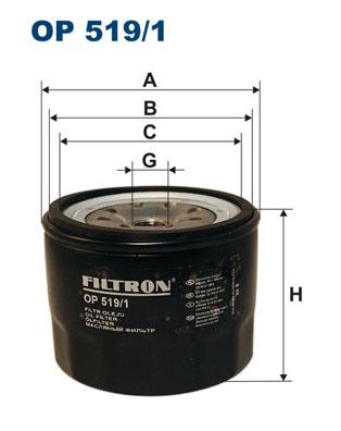 Ilustracja OP 519/1 FILTRON filtr oleju