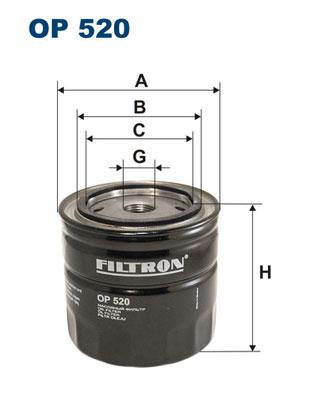 Ilustracja OP 520 FILTRON filtr oleju