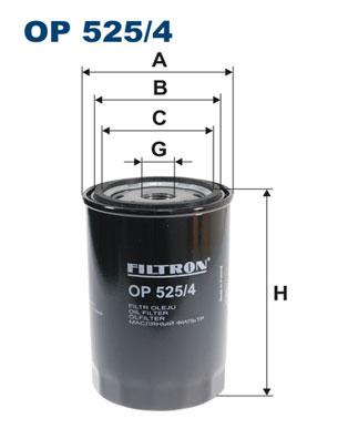 Ilustracja OP 525/4 FILTRON filtr oleju