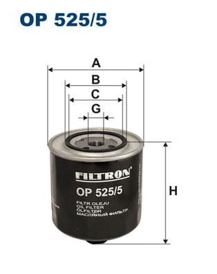 Ilustracja OP 525/5 FILTRON filtr oleju
