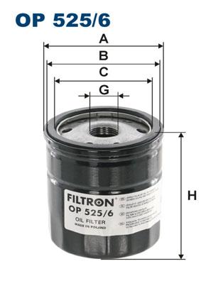 Ilustracja OP 525/6 FILTRON filtr oleju