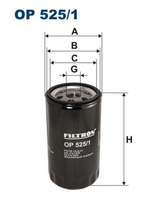 Ilustracja OP 525/1 FILTRON filtr oleju