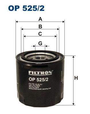 Ilustracja OP 525/2 FILTRON filtr oleju