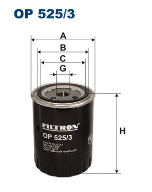 Ilustracja OP 525/3 FILTRON filtr oleju